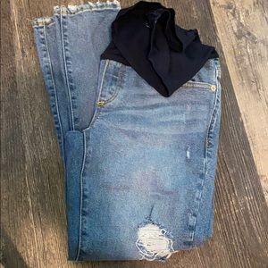 GAP maternity distressed jeans